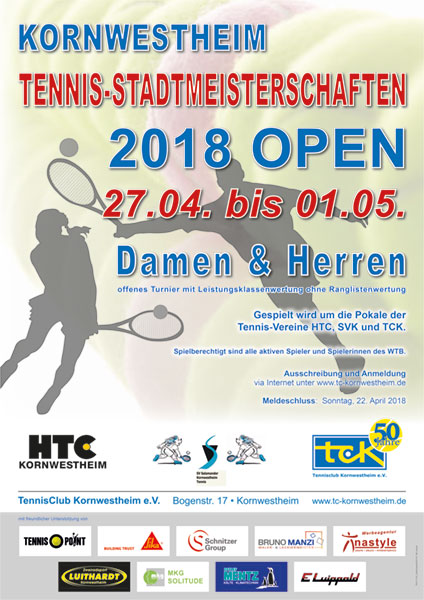 Kornwestheim Tennis-Stadtmeisterschaften 2018 OPEN